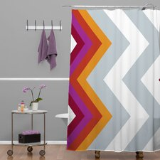 Karen Harris Modernity Solstice Warm Chevron Shower Curtain