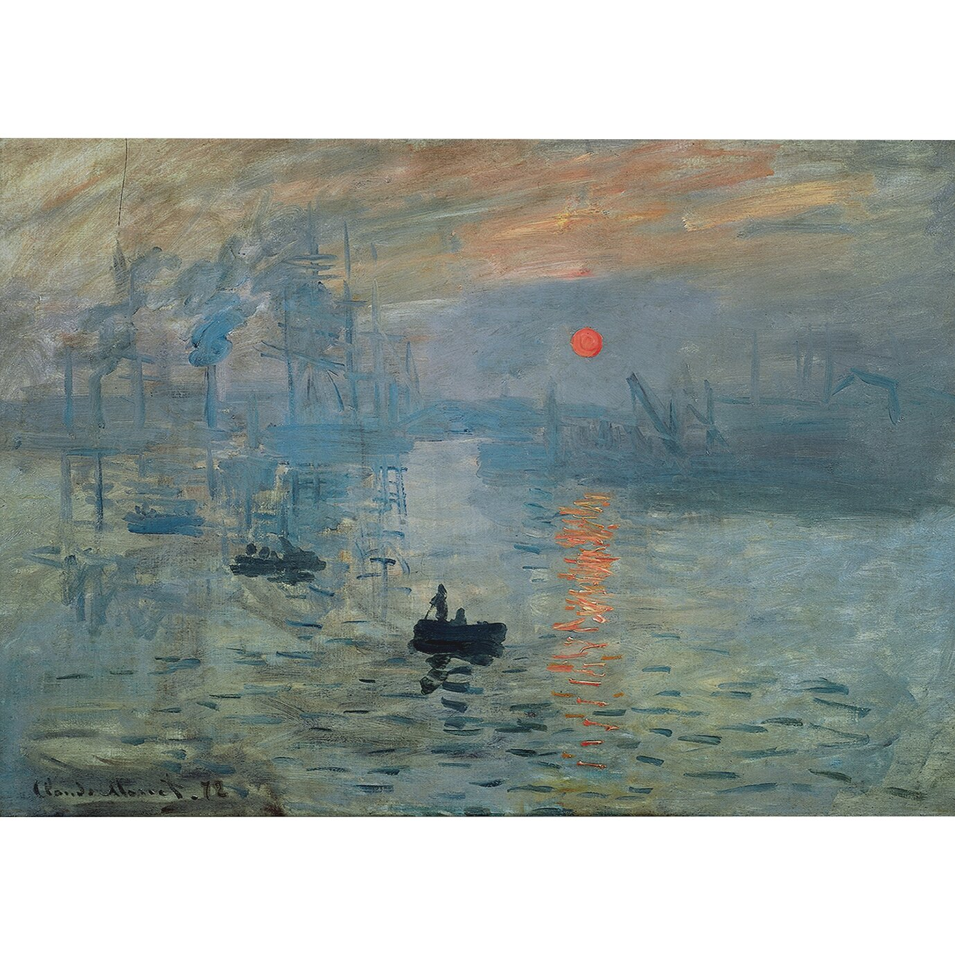 Wexfordhome Impression Sunrise By Claude Monet Painting