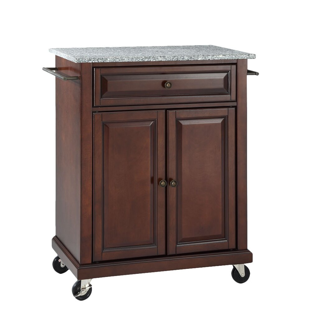 Portable Kitchen: Darby Home Co Detweiler Solid Granite Top Portable Kitchen