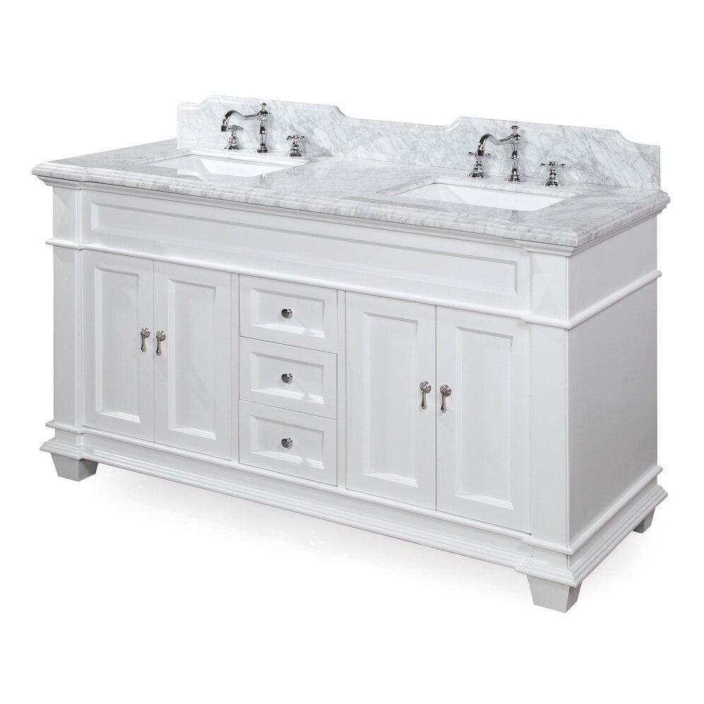 """KBC Elizabeth 60"""" Double Bathroom Vanity Set & Reviews"""