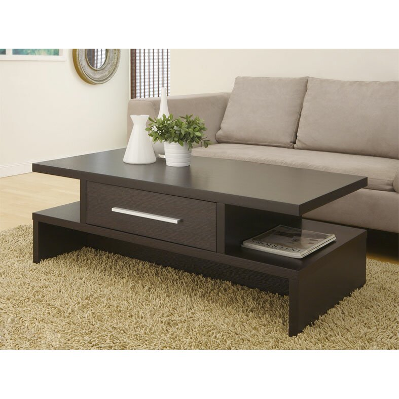 Zipcode design wylie rectangular 1 drawer coffee table for Center table design for sofa