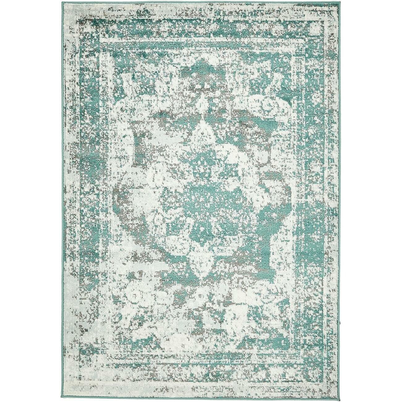mistana brandt turquoise gray white area rug reviews wayfair. Black Bedroom Furniture Sets. Home Design Ideas