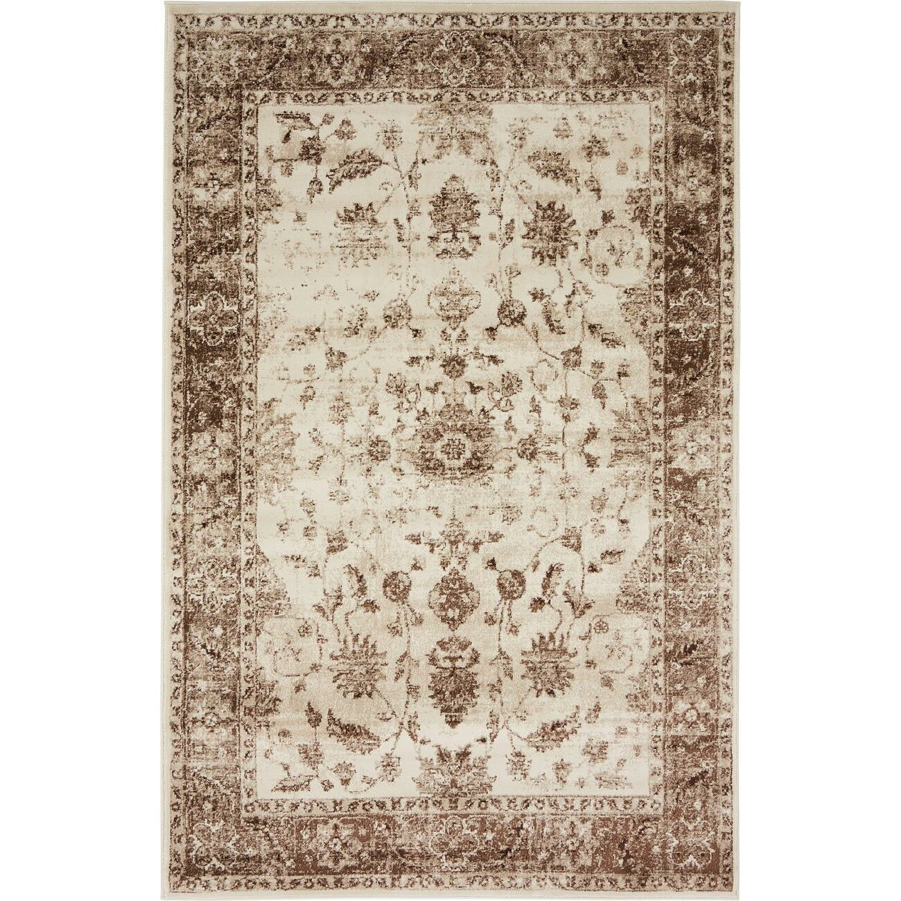 Lark Manor Mathieu Cream Beige Brown Area Rug Amp Reviews