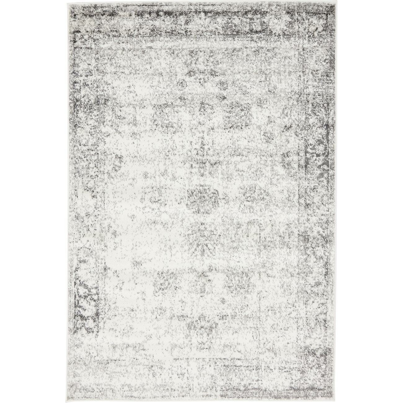 Bungalow Rose Ford Machine Woven Gray Beige Area Rug