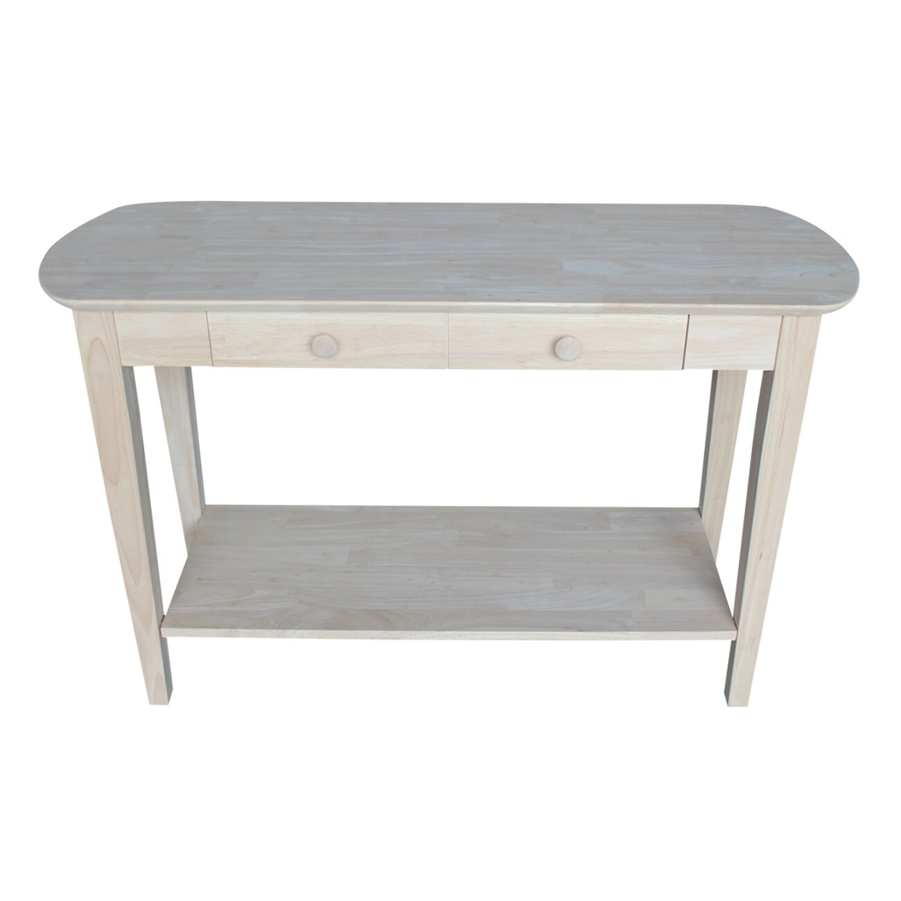 International concepts unfinished philips console table for Sofa table unfinished