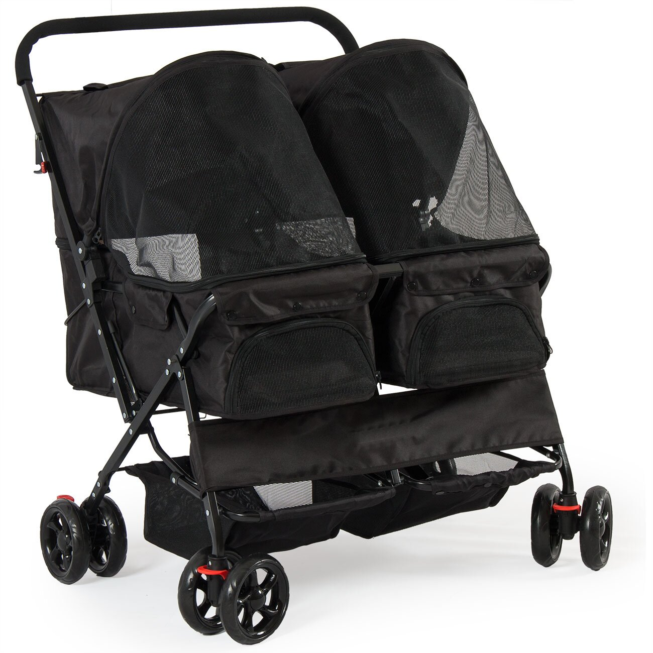 Fur Family Deluxe Double Side Pet Standard Stroller