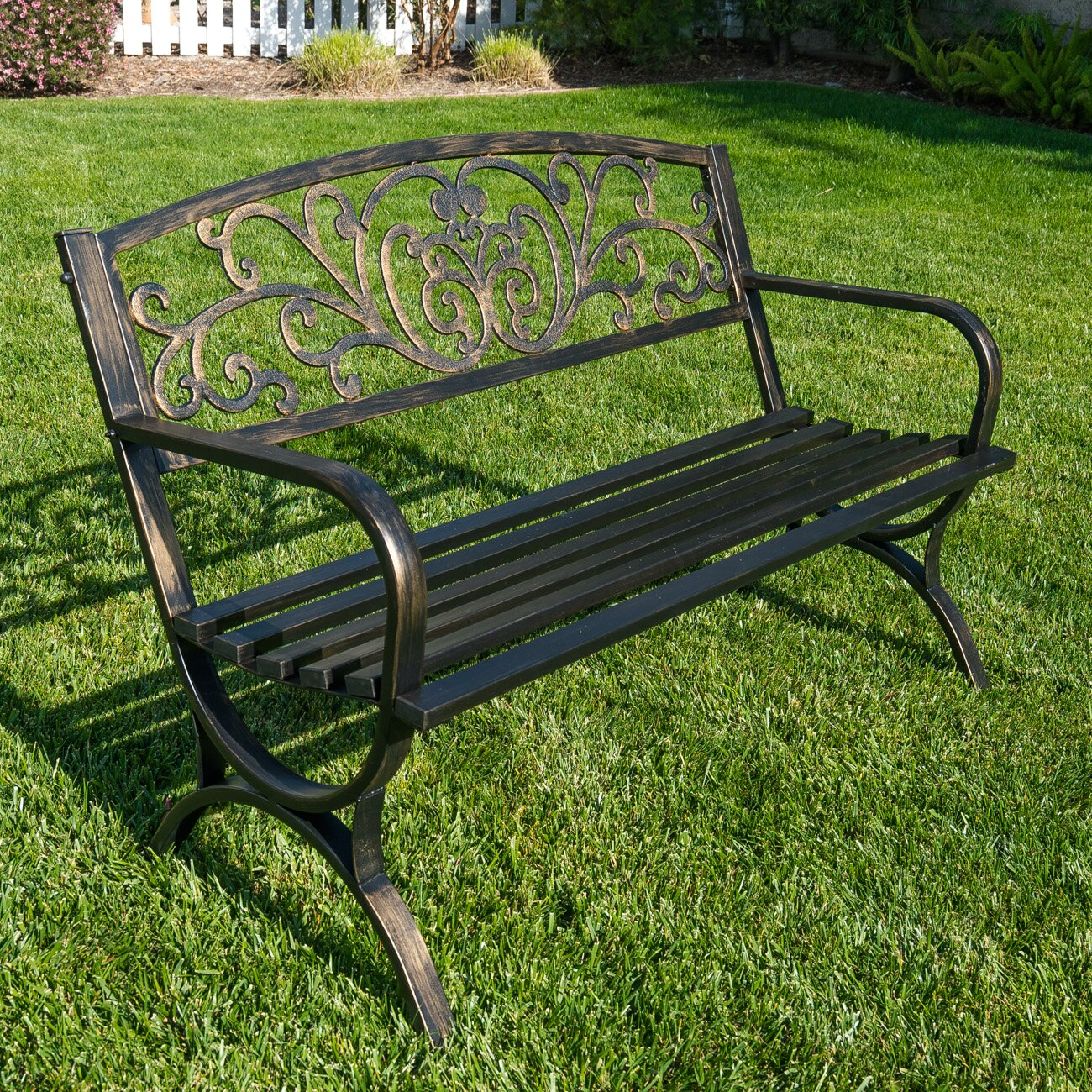 belleze metal garden bench reviews