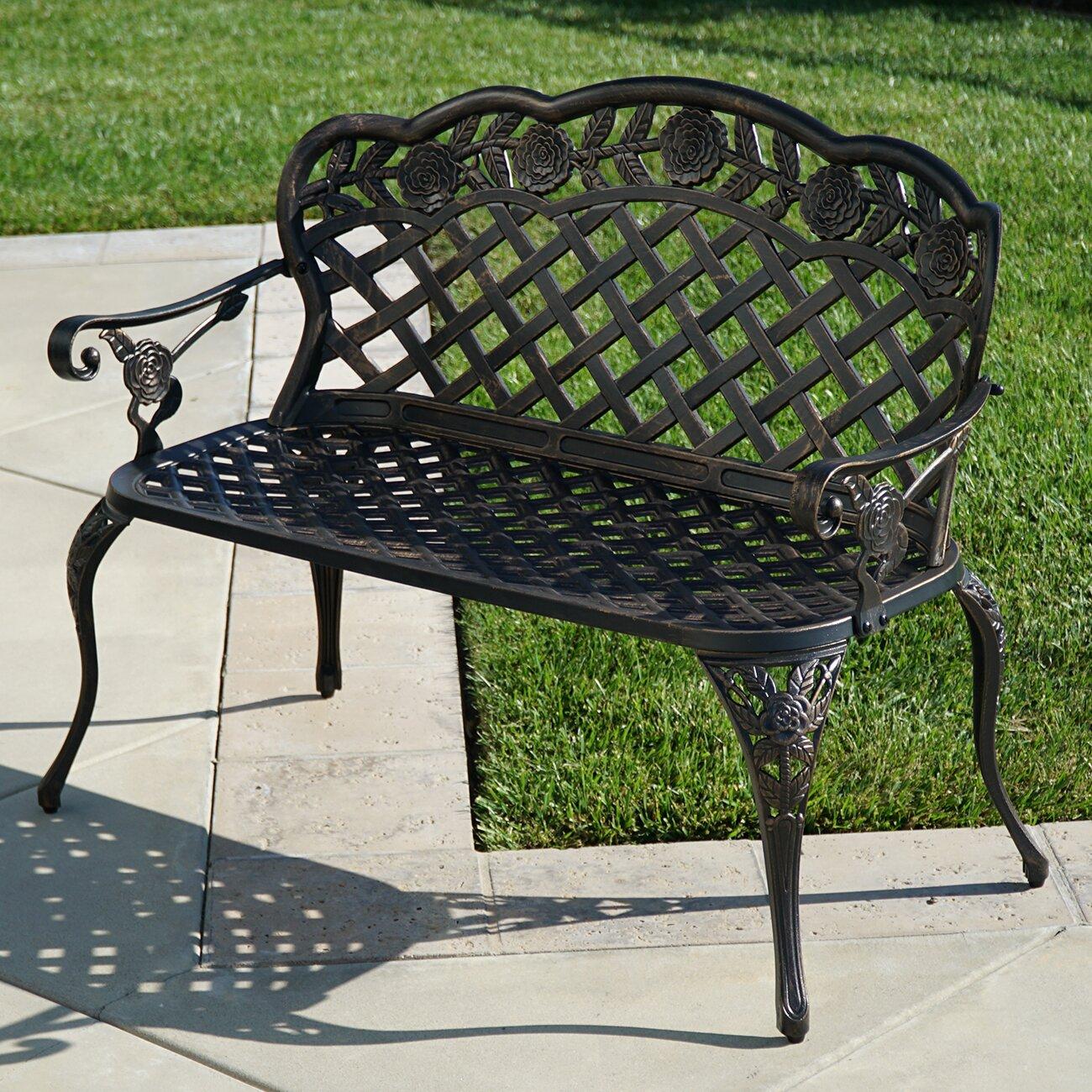 Belleze Outdoor Metal Garden Bench Wayfair Ca