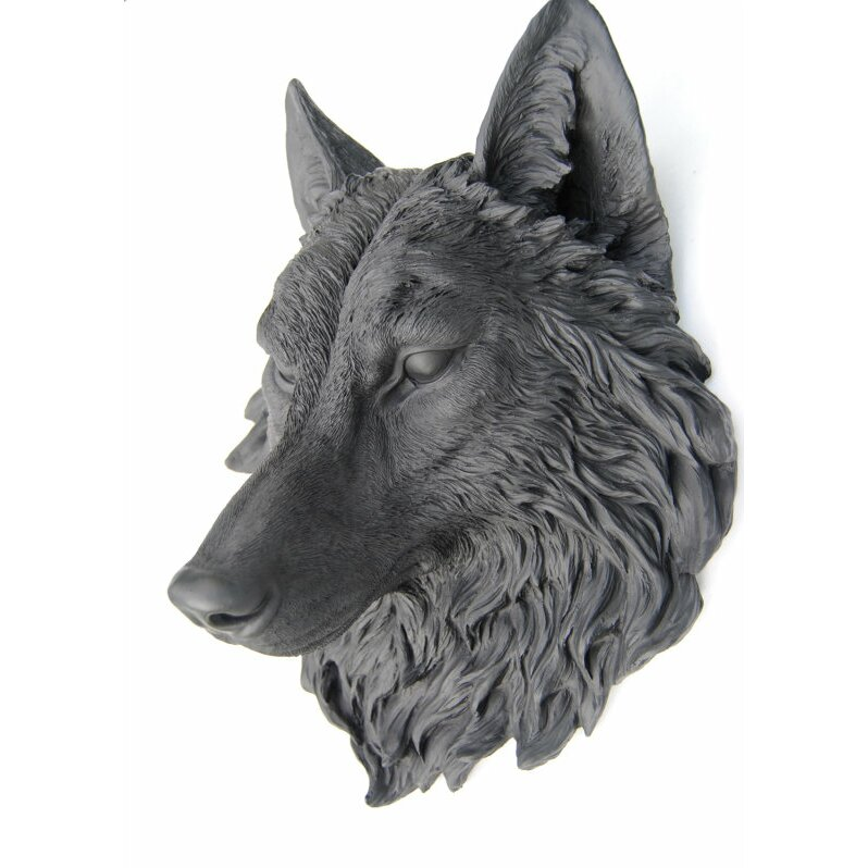 Near And Deer Wolf Head Faux Taxidermy Wall D 233 Cor