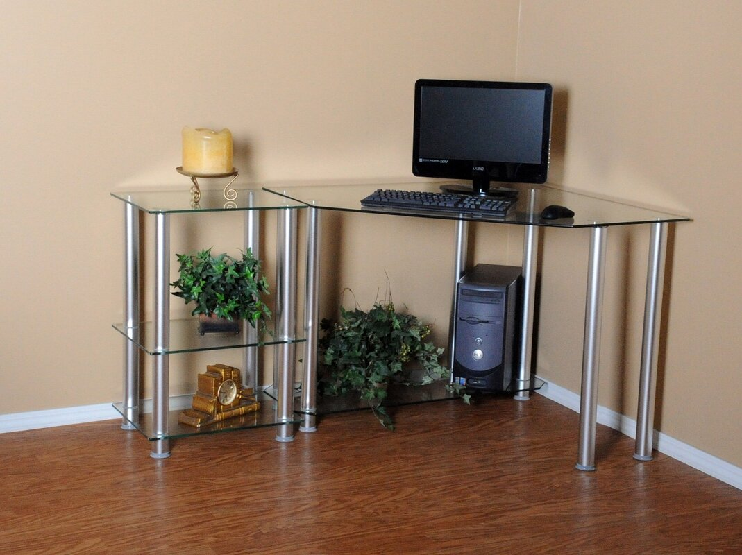 Rta home and office corner computer desk with 20 modular extension reviews wayfair - Next corner computer desk ...