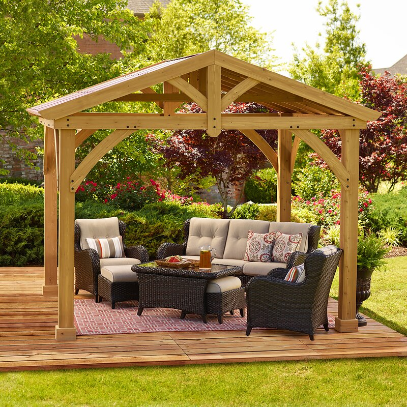 Marvelous Avery Pavilion 10 Ft. W X 12 Ft. D Wood Permanent Gazebo