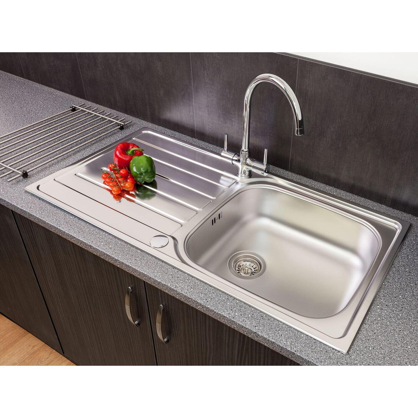 Reginox daytona 100cm x 50cm single bowl inset kitchen for Kitchen 919 reviews