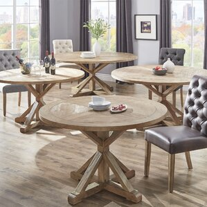 8 + Seat Round Kitchen & Dining Tables You\'ll Love | Wayfair