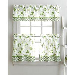 Attractive Cherelle Herb Graden Kitchen Curtains
