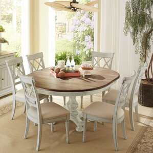 7 piece round kitchen & dining room sets you'll love | wayfair