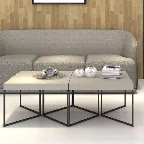 2 Piece Coffee Table Set In Espresso Default Name