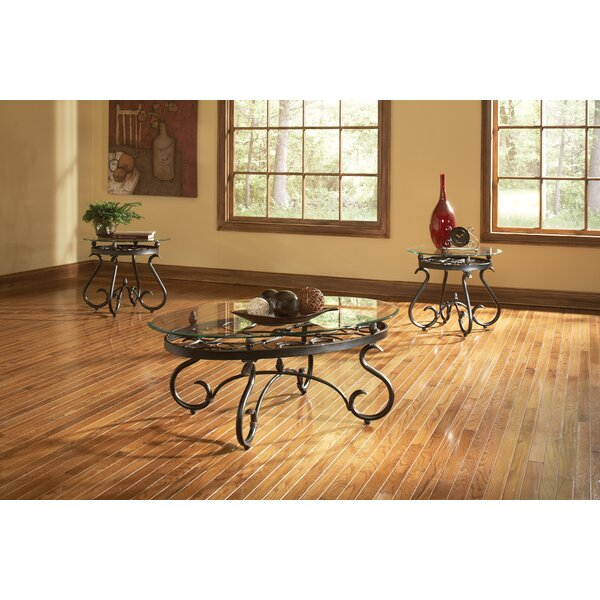 andover mills merrimack 3 piece coffee table set & reviews   wayfair