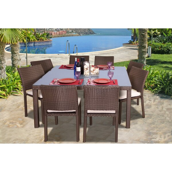 Beachcrest Home Aquia Creek 9 Piece Dining Set U0026 Reviews | Wayfair