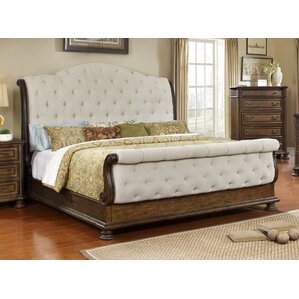 belle upholstered sleigh bed