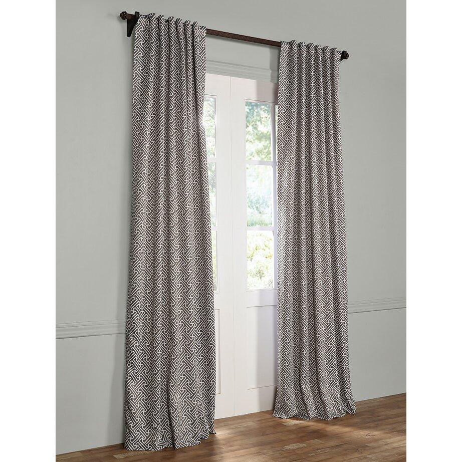 Mercury Row Isan Geometric Blackout Thermal Rod Pocket Single Curtain Panel Reviews