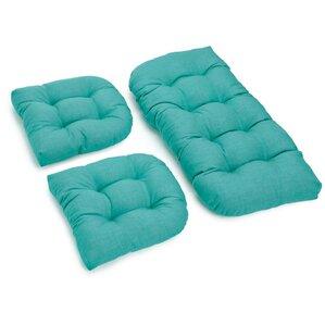 3 Piece Rhett Tufted Patio Cushion Set