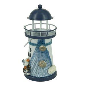 Nautical Anchor Metal Vintage Openwork Ocean Lighthouse Color Changing LED Lantern Night Light
