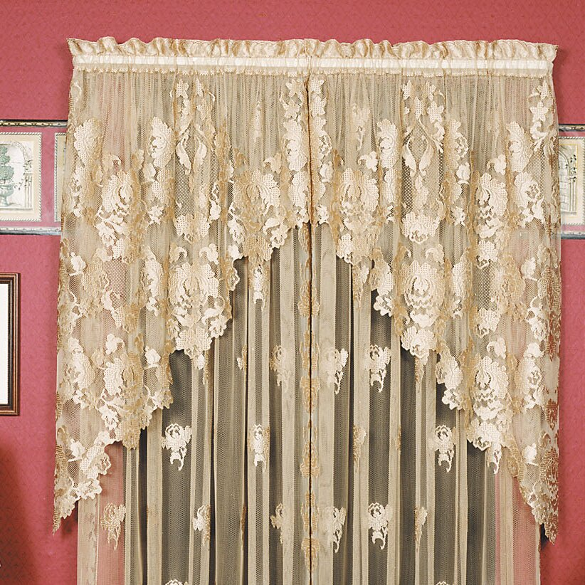 """Heritage Lace Windsor 36"""" Swag Curtain Valance & Reviews"""