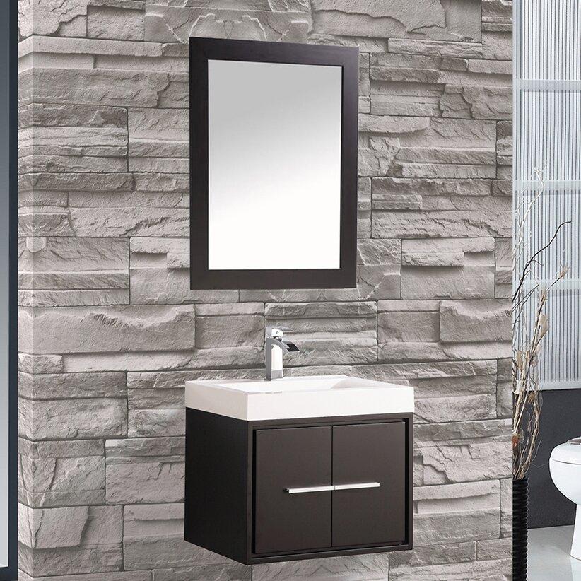 "Cypress 24"" Single Floating Bathroom Vanity Set with ..."