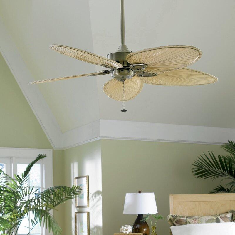 "52 Gauguin Tropical 4 Blade Indoor Outdoor Ceiling Fan: Fanimation 52"" Windpointe 5-Blade Ceiling Fan & Reviews"
