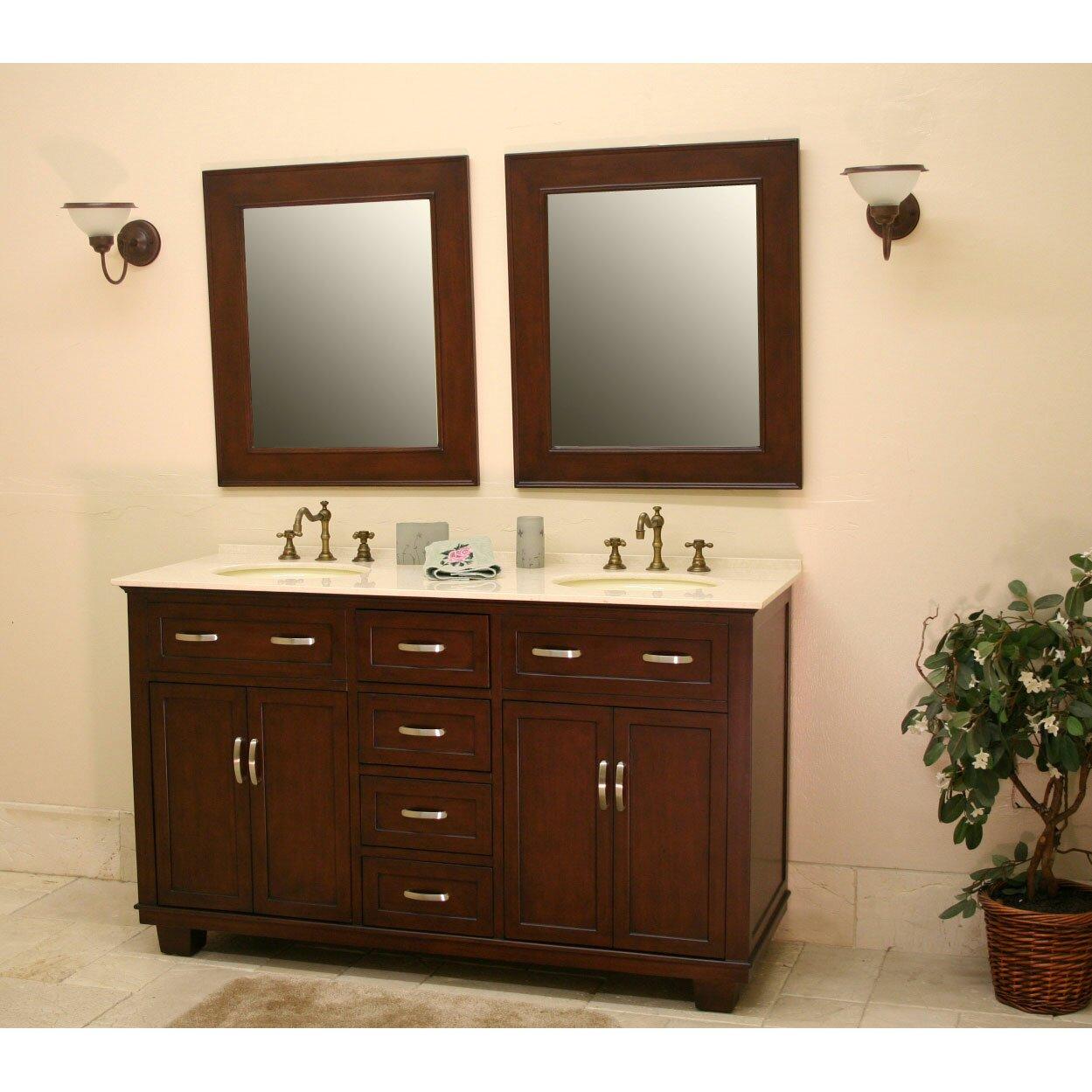 Double bathroom vanity - Bolton 60 Double Bathroom Vanity Set