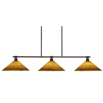 Loon Peak Pujari 3 Light Pool Table Lights Linear Pendant Wayfair