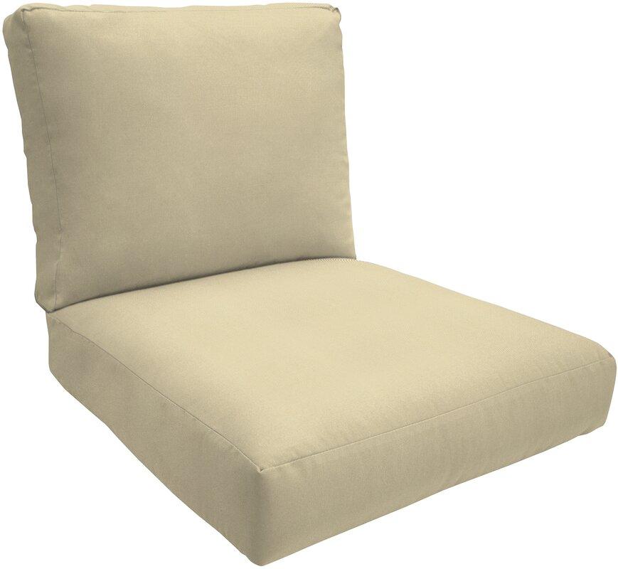Wayfair Custom Outdoor Cushions Double-Piped Outdoor Sunbrella Lounge Chair  Cushions & Reviews | Wayfair - Wayfair Custom Outdoor Cushions Double-Piped Outdoor Sunbrella
