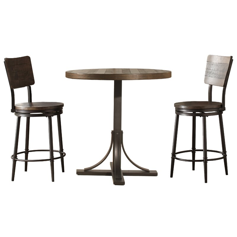 Take A Bite Out Of 24 Modern Dining Rooms: Putney 3 Piece Counter Height Breakfast Nook Dining Set