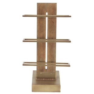 Camire Contemporary 3-Tiered Tabletop Wine Bottle Rack
