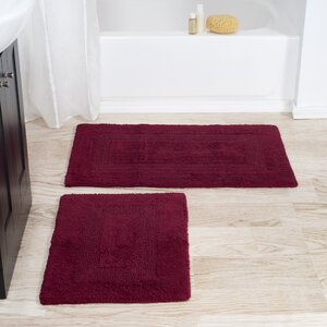2 Piece Reversible Bath Rug Set