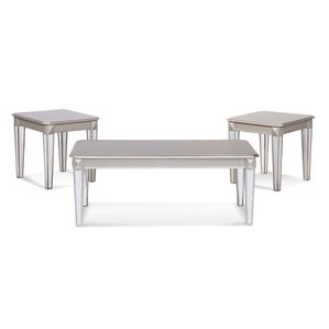 Gassin 3 Piece Coffee Table Set