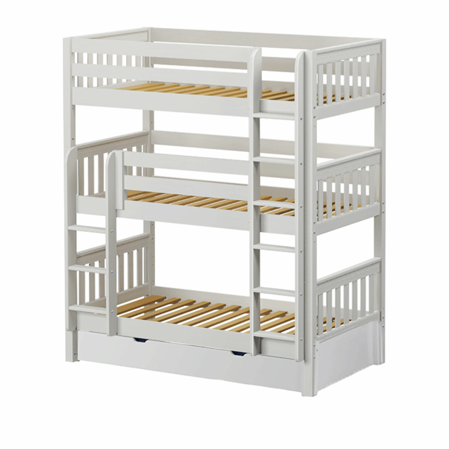 Maxtrix Kids Holy Twin Over Twin Triple Bed With Trundle Wayfair