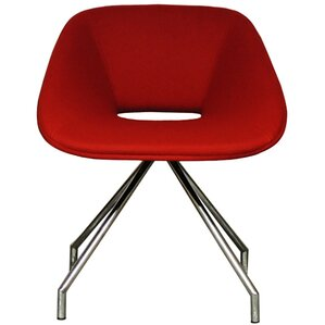 Red Swivel Eco Leather Side Chair by B&T Des..
