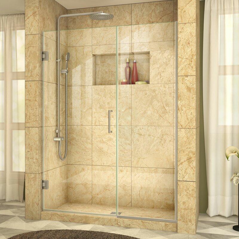 Dreamline Unidoor Plus 585 X 72 Hinged Frameless Shower Door With