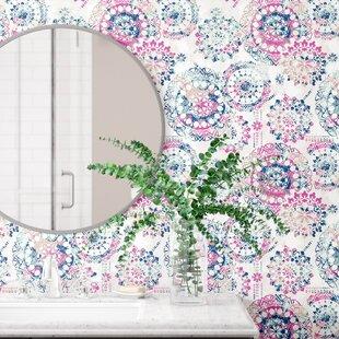 Pink wallpaper youll love wayfair save mightylinksfo