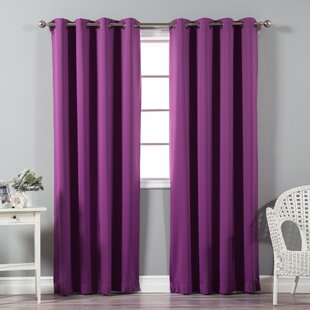 Attractive Solid Blackout Thermal Grommet Curtain Panels (Set Of 2)