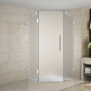 Frosted glass shower stalls enclosures you 39 ll love wayfair - Wd40 on glass shower doors ...