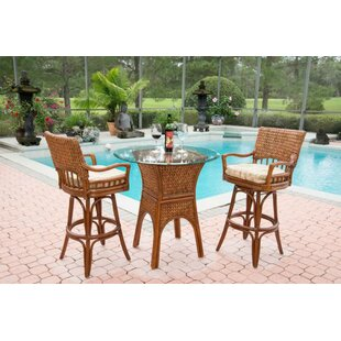 Pringle 3 Piece Counter Height Dining Set