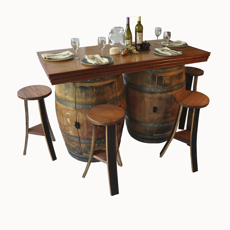 barrel dining chairs. Wine Barrel 5 Piece Dining Set Chairs D