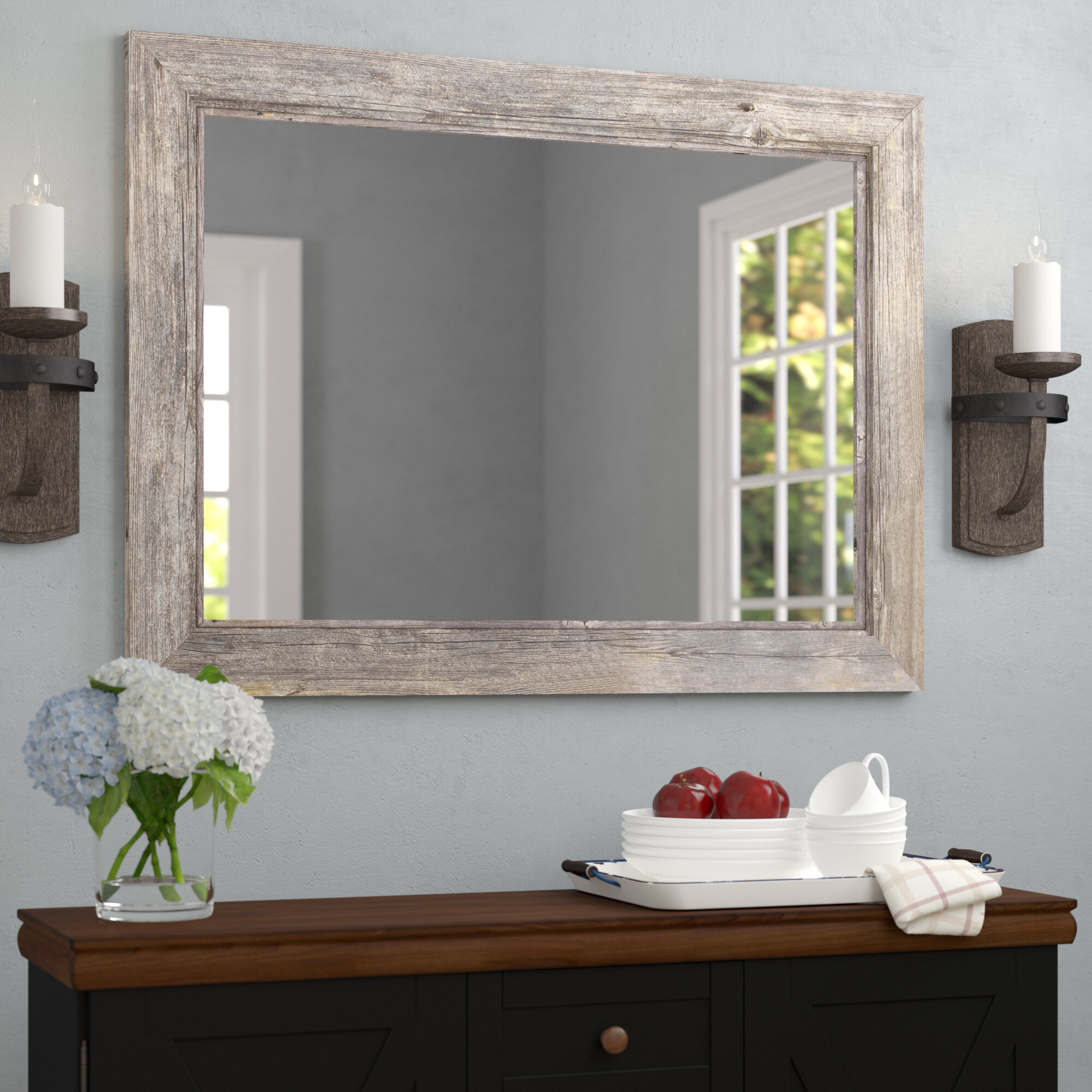 august grove coastal bathroom mirror reviews wayfair - Coastal Bathroom