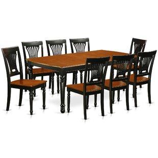 Pimentel 9 Piece Solid Wood Dining Set