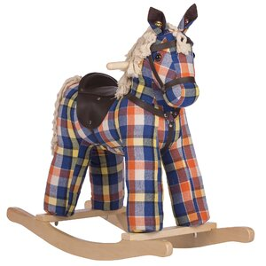 Checkers Vintage Rocking Horse