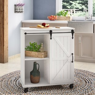 Banbury Multi-Purpose Wooden Rolling Kitchen Cart
