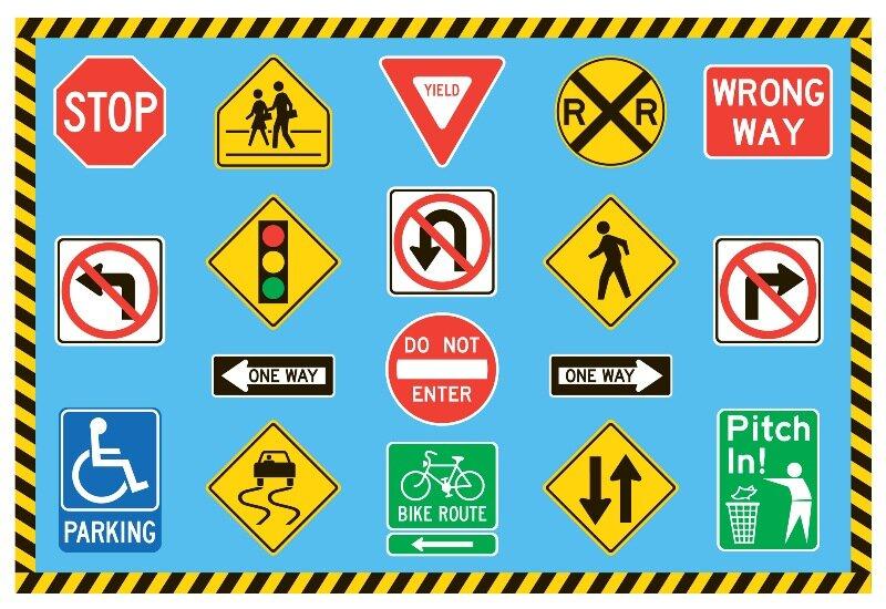 Wayfair Fun Rugs Fun Time Traffic Signs Kids Rug
