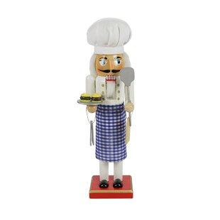 9d9b1fafc69b0 Decorative Wooden Christmas Nutcracker Chef with Gingham Apron